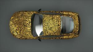 Carwrapping-gold ornamental