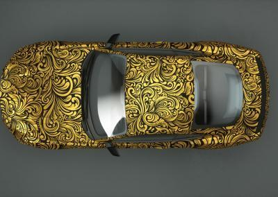 Carwrapping-gold ornamental