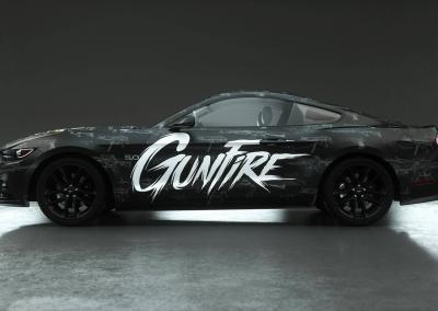 Fahrzeugvollfolierung-Totenkopf-Schusswaffen