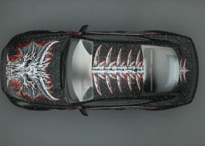 Fahrzeugvollfolierung-bone dragon