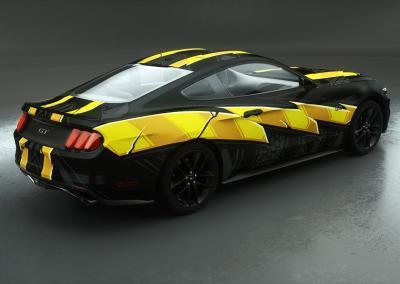 Fahrzeugvollfolierung-schwarz-gelb