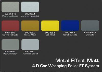 4-D-Autofolie-Carwrapping-FT-System-Metal-Effect-Matt-Farbuebersicht