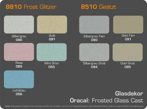 farbkarte Glasdekor