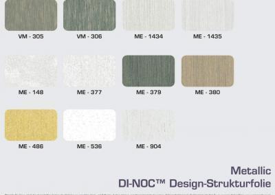 Farbpalette 3M-Di-Noc-Metallic-Designfolie