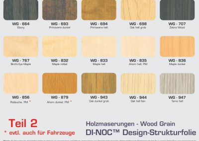 Farbpalette 3M Di-Noc Wood Grain-2