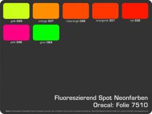 Farbkarte Neonfarben