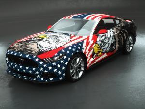 car wrap design american patriot