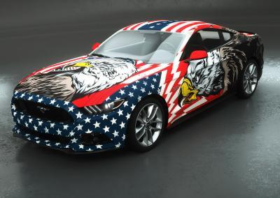 car wrap design american patriot