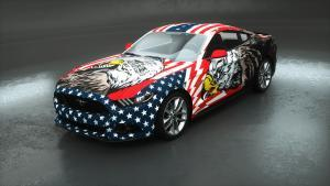 car wrapping american adler design