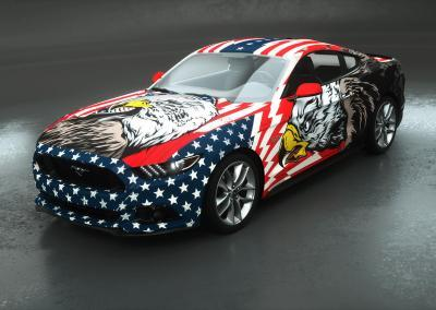 car wrapping american adler design