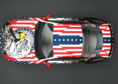 wrap amerika flagge fahne auto design