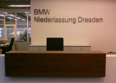 410-BMW-Fräsbuchstaben Edelstahl Dresden