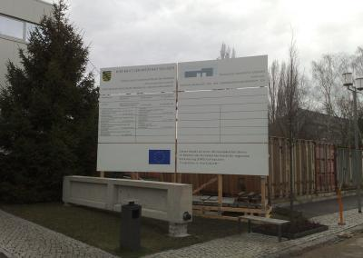 413-TU Technikum-Bauschild Dresden