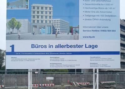465_Bauschild TLG Postplatz Dresden