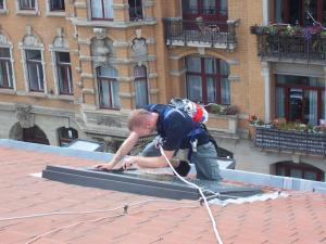468_Sonnenschutzfolie Dachfenster Klebemontage Dresden
