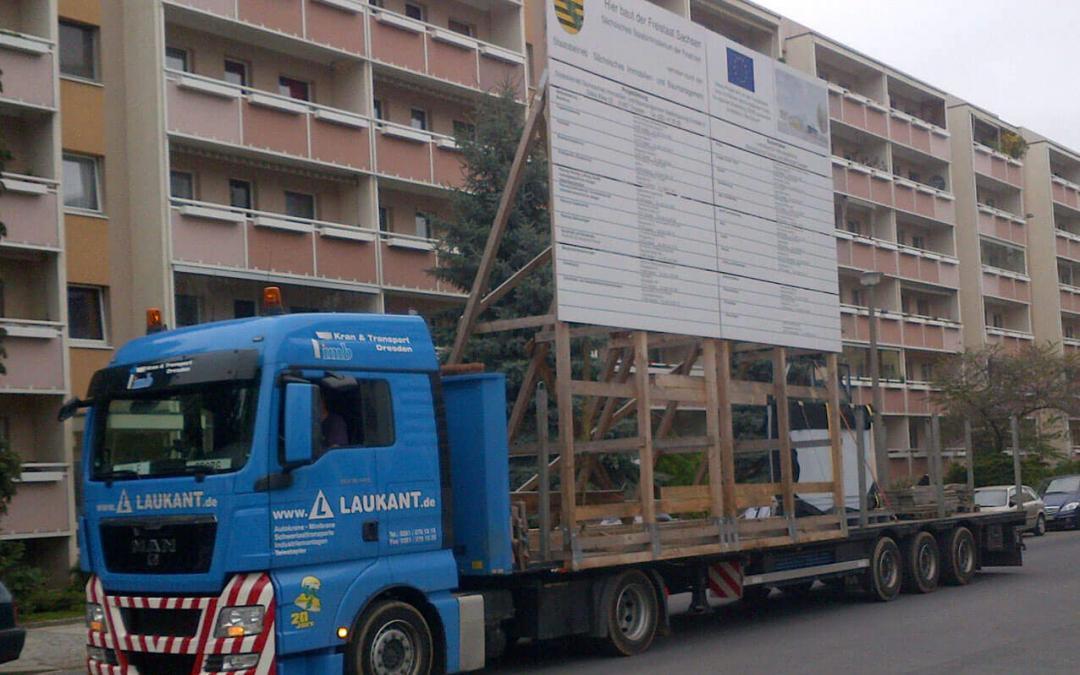 501-Bautafel Umzug Service Bauschilder bundesweit Montage
