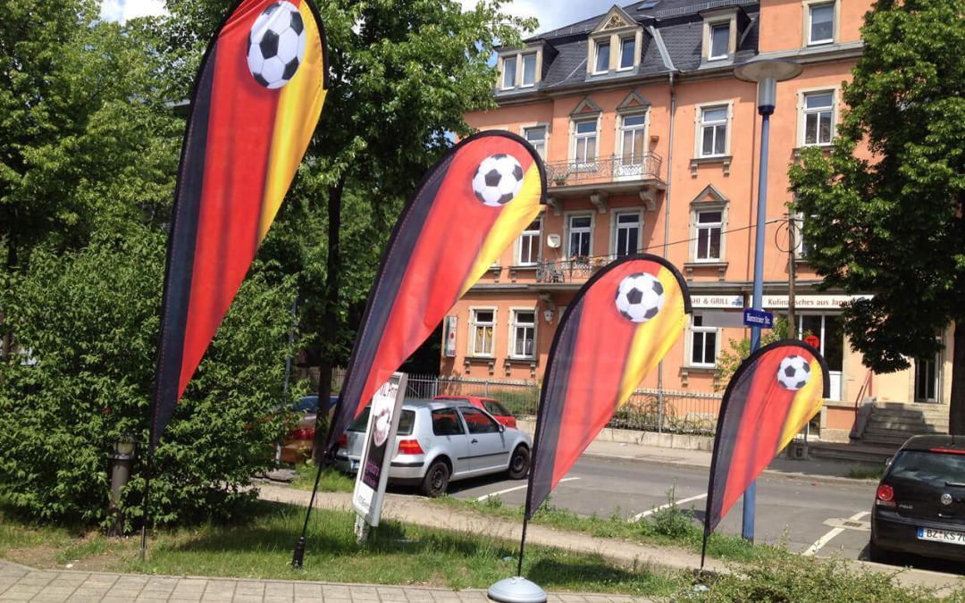 Beachflags, Fahnen aus Dresden, Sachsen