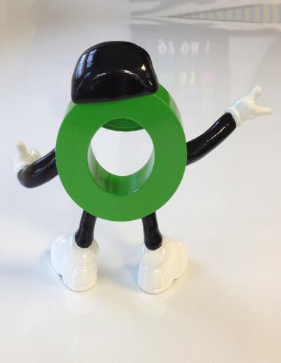 512-Figur 3-D Druck Modellfigur Männchen Hinten