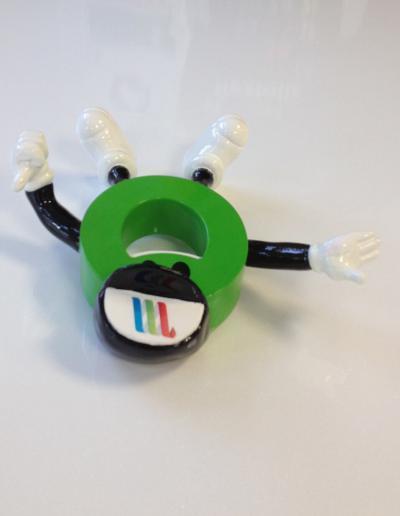 512-Figur 3-D Druck Modellfigur Männchen Liegend