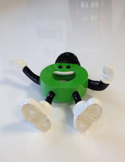 512-Figur 3-D Druck Modellfigur Männchen Oben