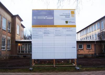 522_Bauschild Grundschule Dresden
