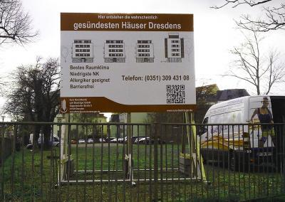 523_Bauschild evtl gesündesten Häuser Dresdens