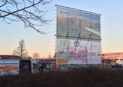 532_Bauschild Plane 4x4m Aufsteller Einkaufscenter Mecklenburg-Vorpommern