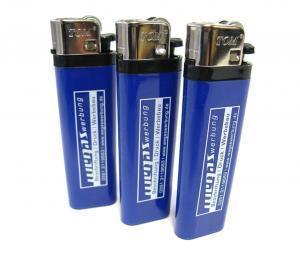 Feuerzeug-Classic Reiberad blau Werbemittel Werbeartikel