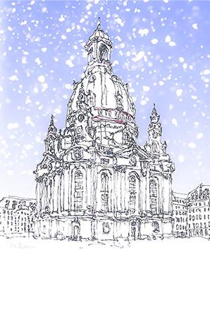 Frauenkirche-Dresden-Kunstdruck-WA086