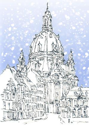 Frauenkirche-Dresden-Winter-Schnee-WA08557
