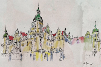 Schloss-Dresden-Aquarell-Kremer-B01