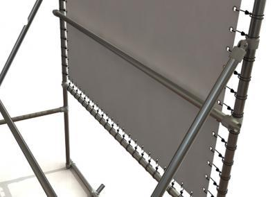 Banner-System-Grossformatdruck-Montage
