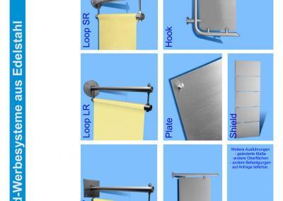 Übersicht-Wand-Werbesysteme