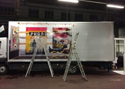 598-LKW-Transporter-Bild-Foto-Aufkleber-Bild 3 Foto kleben
