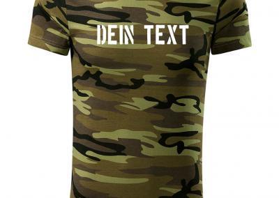T_Shirt Camouflage dein text druckenJagdshirt-Tarnshirt-Armeeshirt