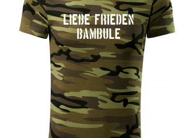 T_Shirt Camouflage liebe frieden bambule-Jagdshirt-Tarnshirt-Armeeshirt