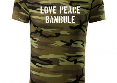 T_Shirt Camouflage love peace bambule-Jagdshirt-Tarnshirt-Armeeshirt