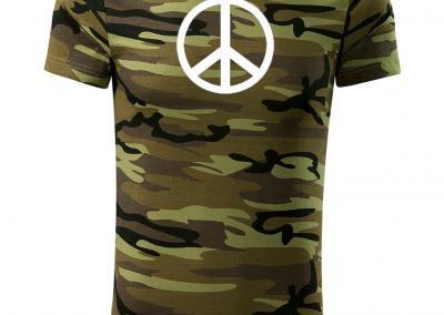 T_Shirt Camouflage peace zeichen-Jagdshirt-Tarnshirt-Armeeshirt