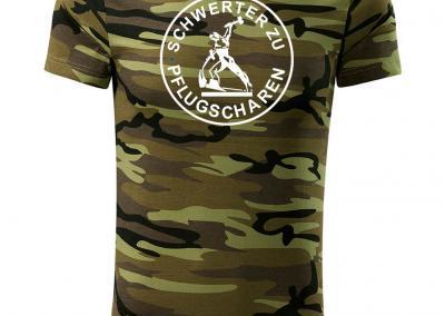 T_Shirt Camouflage schwerter zu pflugscharen-Jagdshirt-Tarnshirt-Armeeshirt