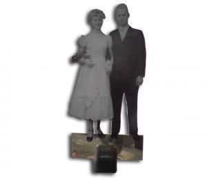 Figur-mit-Standfuss-Ehepaar Goldene Hochzeit