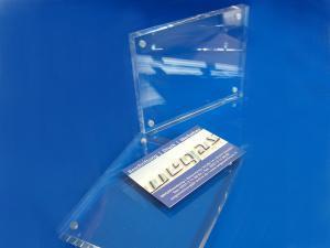 Tischaufsteller-Acryl-Block-Magnethalter-Visitenkarten-Flyer-3