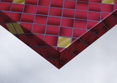 Z6-Moebelfolie-Dekorfolie-Unifarbe-color-matt-Mosaik-rot-und-gold-Designfolie