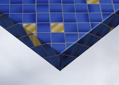 Z7-Moebelfolie-Dekorfolie-Unifarbe-color-matt-Mosaik-blau-und-gold-Designfolie