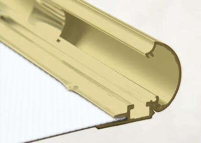 211-Klapprahmen-25mm-Gold-eloxiert-matt-Snap-Frame-Bilderrahmen