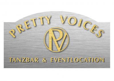 Logo Pretty Voices Tanzbar Disco Cocktails Karaoke Party Dresden Hilton Dresden