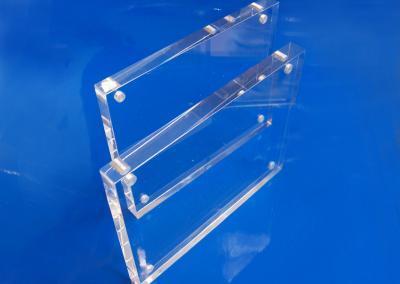 Tischaufsteller-Acrylblock-Magnet-Visitenkarten-Flyer-2-Teile
