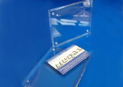 Tischaufsteller-Acrylblock-Magnet-Visitenkarten-Flyer