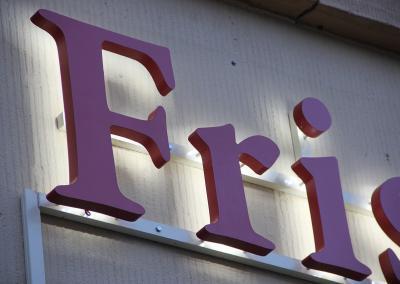 558-LED-Buchstaben Friseur