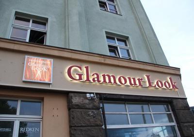 558-LED Leuchtbuchstabe Rueckstrahler Glamour Look