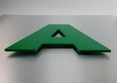 602-Einzelbuchstabe-PVC Werbeagentur Werbetechnik Wegaswerbung Dresden